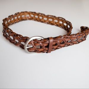 Accessories - Brown braided beautiful genuine leather belt